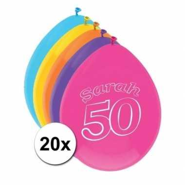 20 stuks sarah ballonnen 50 jaar