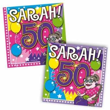 50 jaar feest artikelen sarah