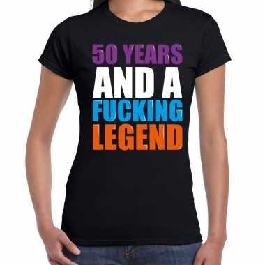 50 year legend / 50 jaar legende cadeau t-shirt zwart dames