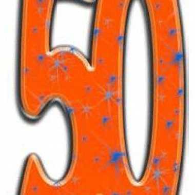 Foto bord van het cijfer 50
