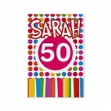 Gekleurde uitnodigingen sarah