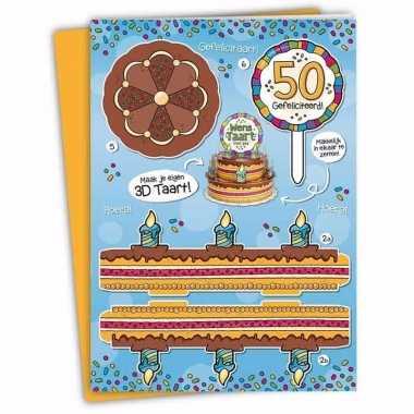 Leeftijd versiering 50 jaar taartkaart xxl