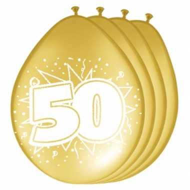 Metallic gouden ballonnen 50 jaar
