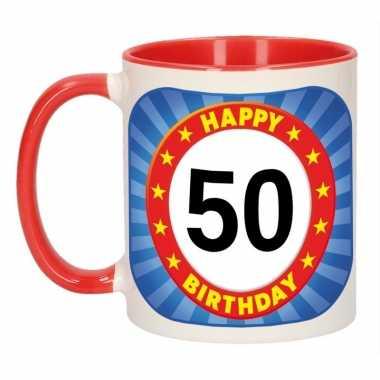 Magnifiek Mok verjaardag 50 jaar 300 ml | Sarah-50.nl @BO86
