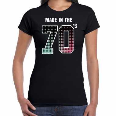 Seventies t-shirt / shirt made in the 70s / geboren in de jaren 70 zwart voor dames