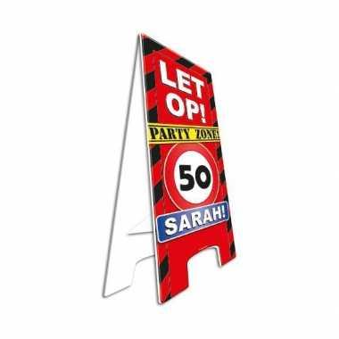 Verjaardagsbord sarah 50 jaar