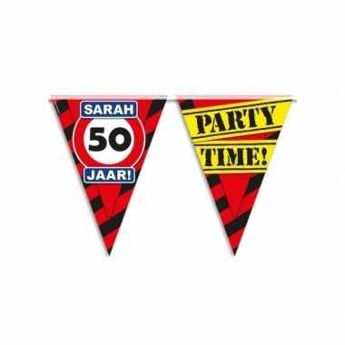 Verjaardagsvlaggetjes 50 jaar 10m