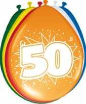 40x stuks ballonnen versiering 50 jaar thema feestartikelen