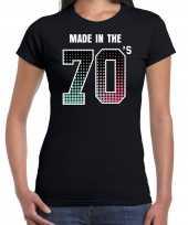 Seventies t-shirt shirt made in the 70s geboren in de jaren 70 zwart voor dames