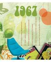 Vijftigste verjaardag kaart met hits uit 1970